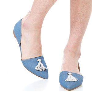 SOUTHERN PROPER- Caroline Tassel Flats Size 8